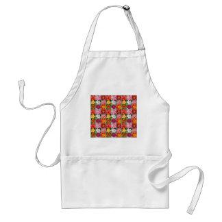 Colorful summer flower garden print standard apron