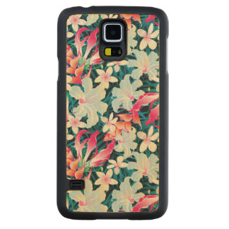 Colorful Tropical Pattern Maple Galaxy S5 Slim Case