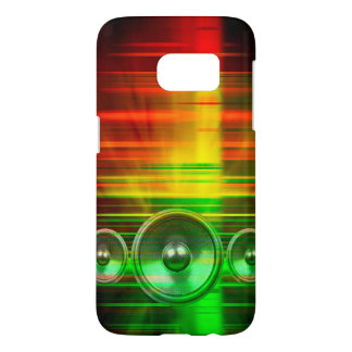 Colourful music speakers samsung galaxy s7 case