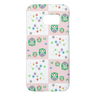 Colourful Owl Pattern For Kids Samsung Galaxy S7 Case