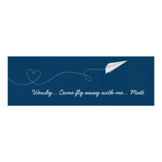 Come Fly with Me Paper Airplane Poster