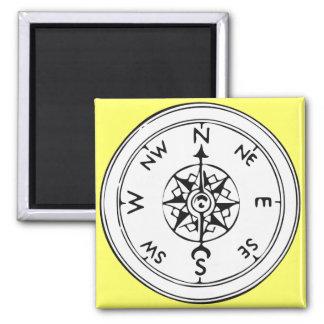 Compass Art Square Magnet