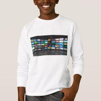 Concept de technologie de production de télévision tshirt