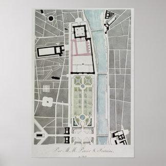 Concevez pour joindre le Tuileries au Louvre Poster
