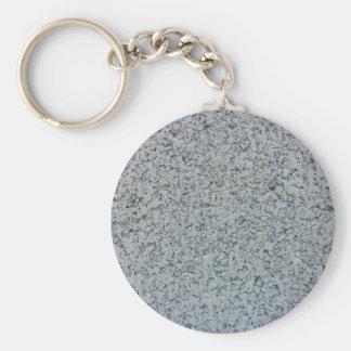 Concrete Block Basic Round Button Keychain