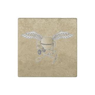 Concrete mixer beige stone magnets