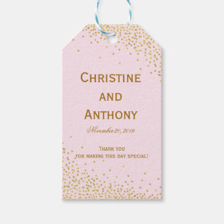 Confetti Dots Elegant Wedding Favor Tags Pack Of Gift Tags