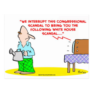 congressional white house scandal postcard