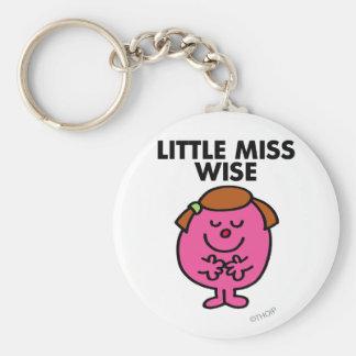 Contemplative Little Miss Wise Basic Round Button Keychain