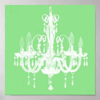 Contemporary Chandelier Silhouette Art - Print #4