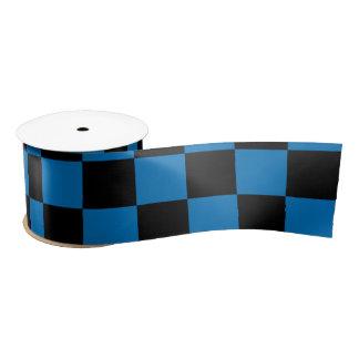 Contrôleurs noirs bleu-foncé ruban en satin