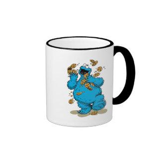 Cookie Monster Crazy Cookies Ringer Coffee Mug