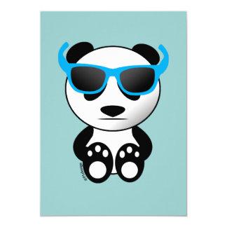 Cool cute panda bear with sunglasses Invitation