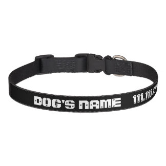 Cool Dog Collar With Custom Name Contact Number