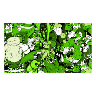 Cool Green Monsters and Zombies Business Card