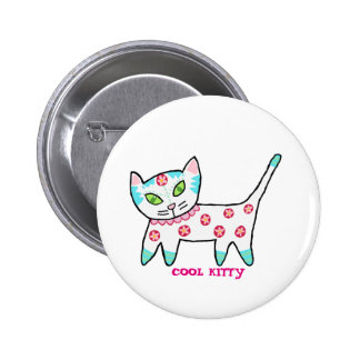 Cool Kitty For Kids 2 Inch Round Button