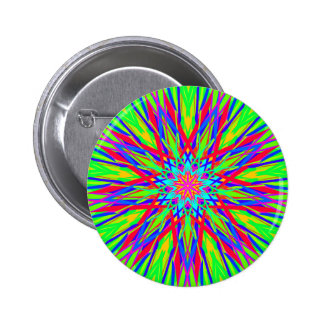Cool Modern Radiating Artistic Abstract 2 Inch Round Button