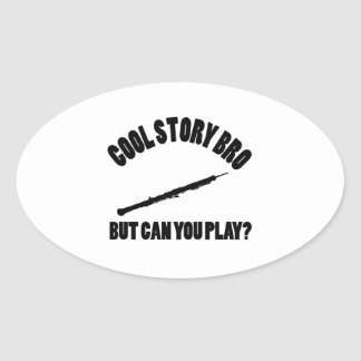 Cool Oboe Vector designs Oval Sticker