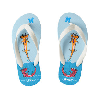 Cool Pool Otters For Kid's Flip Flops