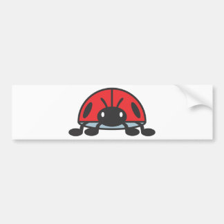 Cool Red Ladybug Cartoon Bumper Sticker