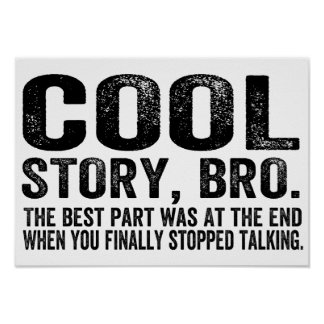 Cool Story Bro.The best part was... Poster