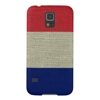 Cool trendy British flag burlap texture Galaxy S5 Cover