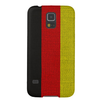Cool trendy Germany flag burlap texture Galaxy S5 Covers