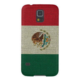 Cool trendy Mexico flag burlap texture Galaxy S5 Cover