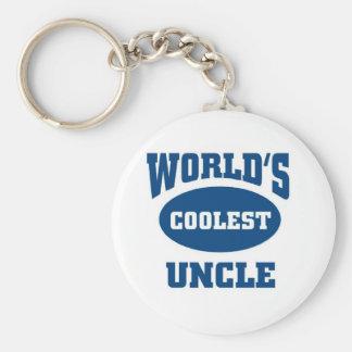 Coolest Uncle Basic Round Button Keychain