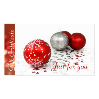 Corporate Business Holiday Gift Certificates Business Card