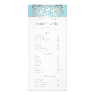 Cosmetology Silver Leaves Salon Price List Menu 2 Rack Card Template