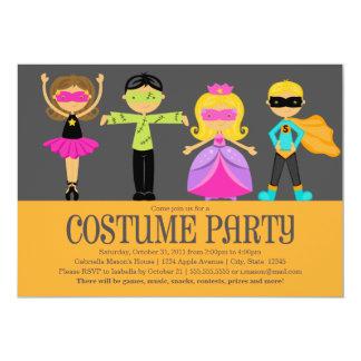 "Costume Party 5"" X 7"" Invitation Card"