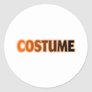 COSTUME ROUND STICKER