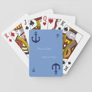 couple names with anchors blue deck of cards