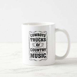 Cowboys Trucks And Country Music Classic White Coffee Mug