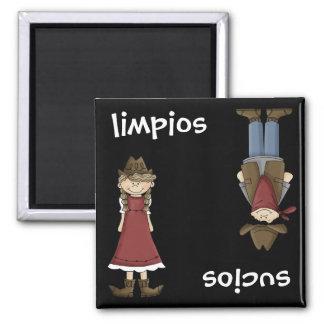 Cowgirl or Cowboy - Spanish en Español Dishwasher Square Magnet