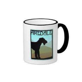 Craftsman Airedale Terrier Ringer Coffee Mug