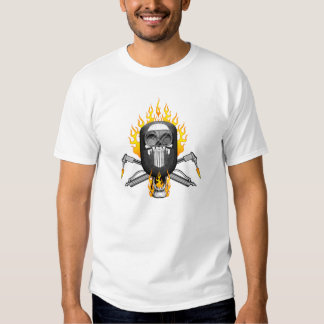 Crâne de soudeuse : Masque flamboyant Tshirt