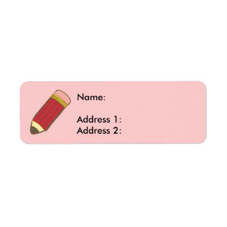 Crayon Étiquette D'adresse Retour