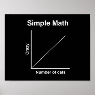 Crazy Cat Graph Poster