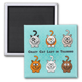 Crazy Cat Lady In Training Magnet