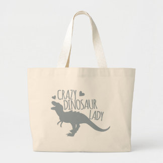 Crazy Dinosaur Lady Jumbo Tote Bag