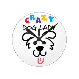 Crazy Dog Lady Clock
