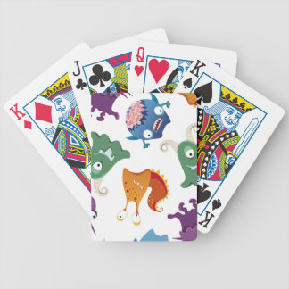 Crazy Monsters Fun Colorful Patterns for Kids Playing Cards