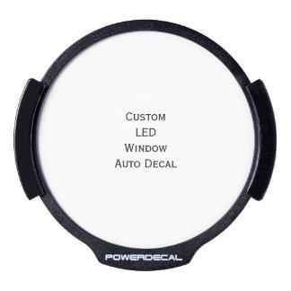 Create Custom LED Window Auto Decal LED Window Decal