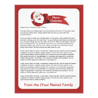 Create Your Christmas Letter Online Custom Letterhead