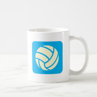 Creative Volleyball Logo Design Classic White Coffee Mug