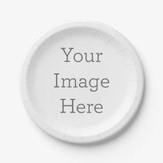 Créez vos propres assiette en papier 17,8 cm