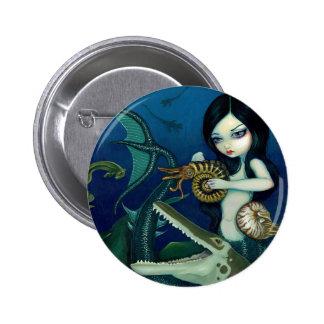 """""""Cretaceous Mermaid"""" Button"""