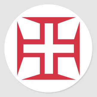 Cross of the Order of Christ Round Sticker